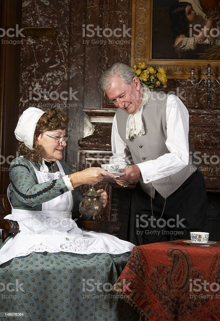 Victorian tea time stock photo