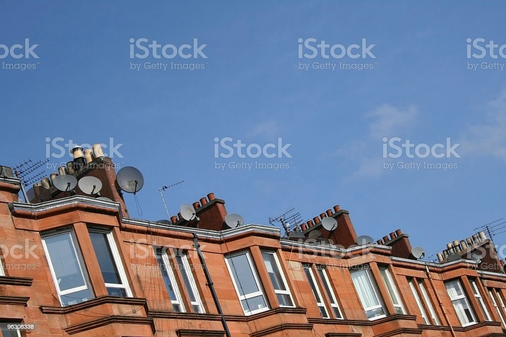 Victorian Tenement Flats, Glasgow royalty-free stock photo