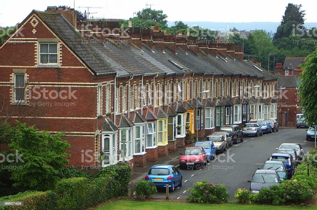 Victorian Terrace royalty-free stock photo