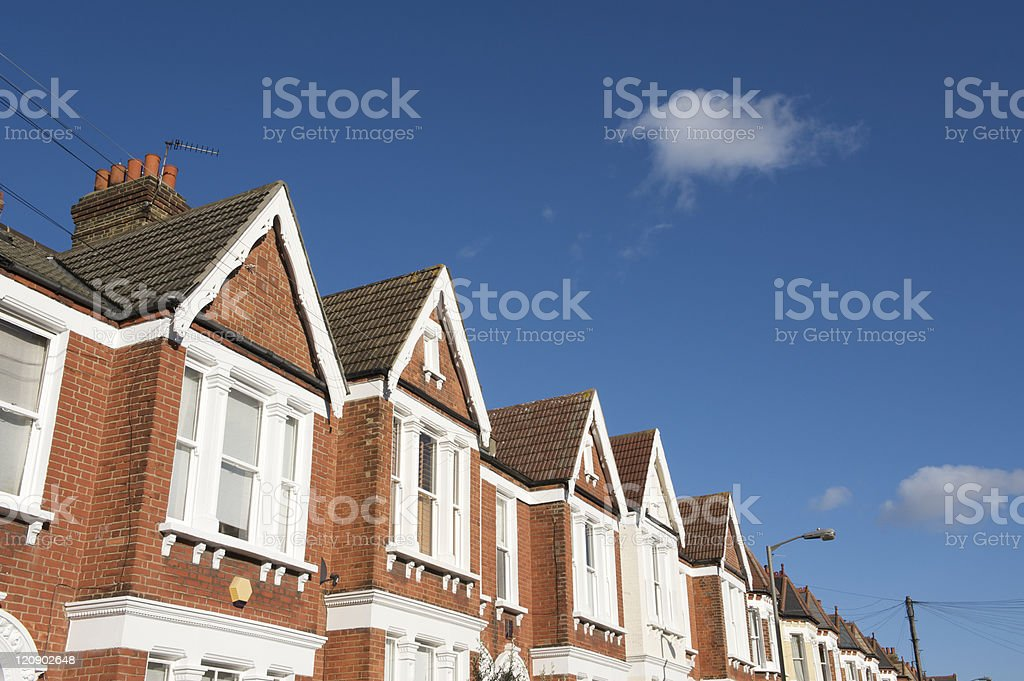 Victorian terraced housing royalty-free stock photo