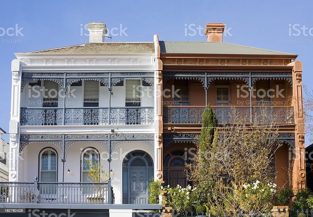 Victorian terraces royalty-free stock photo