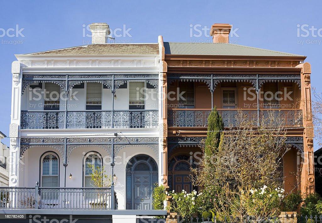 Victorian terraces stock photo