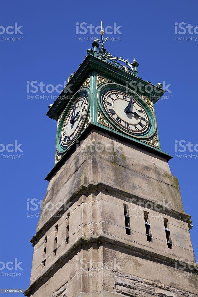 Victorian town clock stock photo