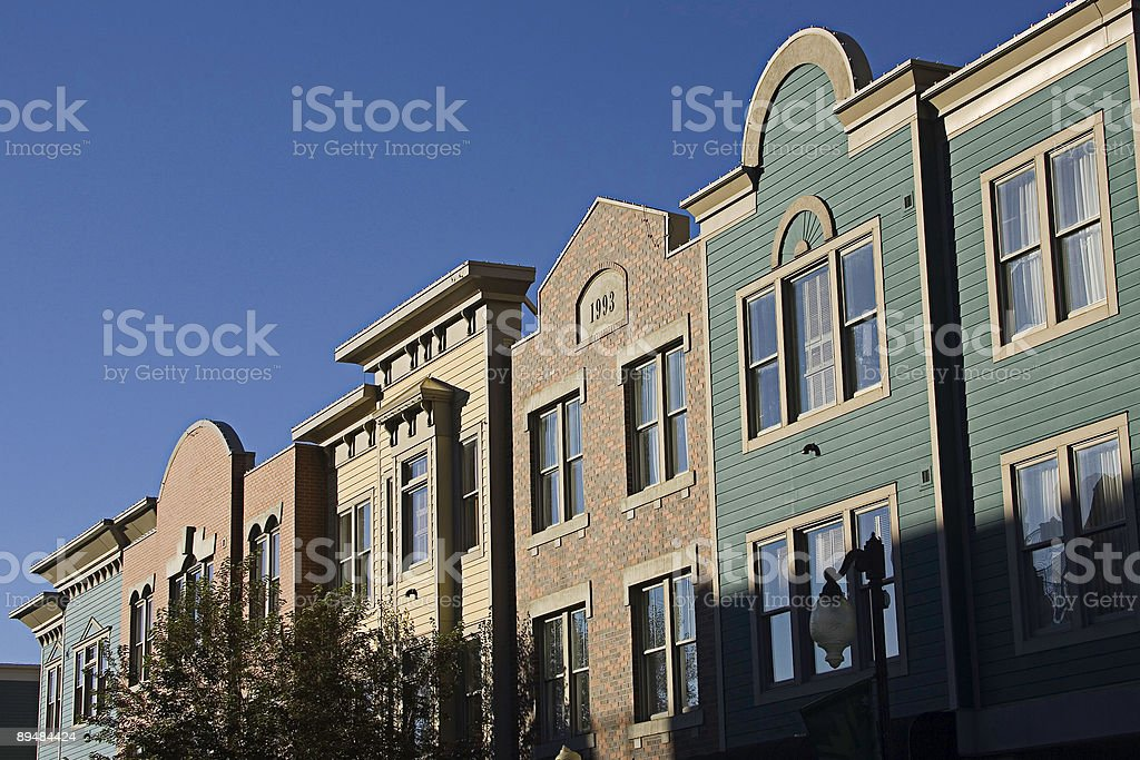 Victorian Town Facade with copyspace royalty-free stock photo