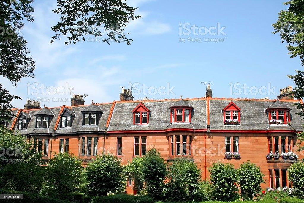 Victorian Townhouses, Glasgow stock photo
