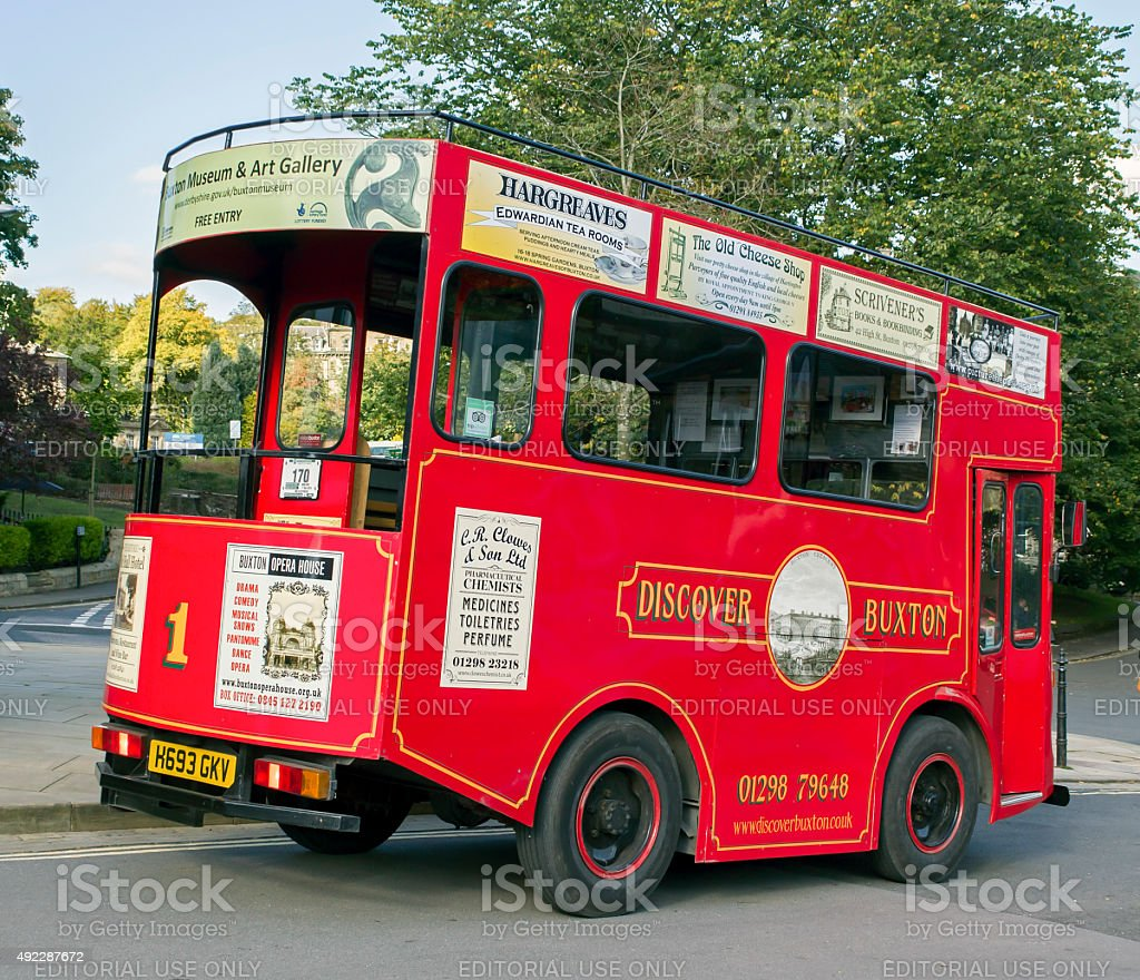 Victorian Tram, Buxton stock photo