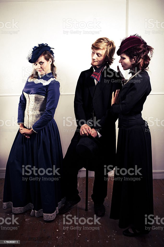 Victorian Trio royalty-free stock photo