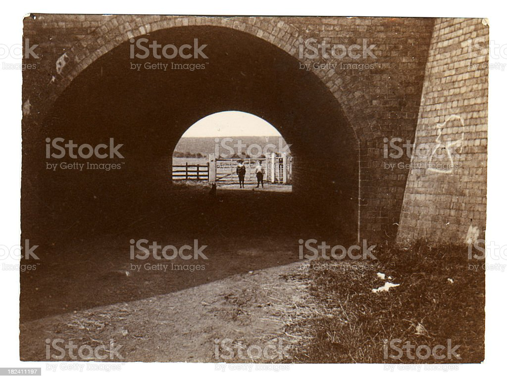 Victorian tunnel stock photo
