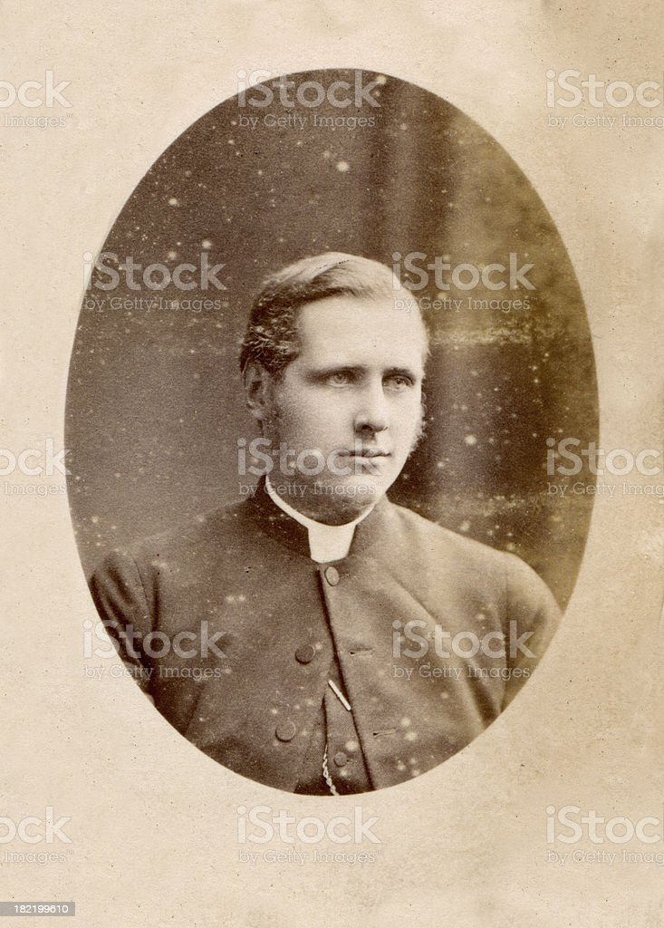 Victorian Vicar Old Photograph stock photo