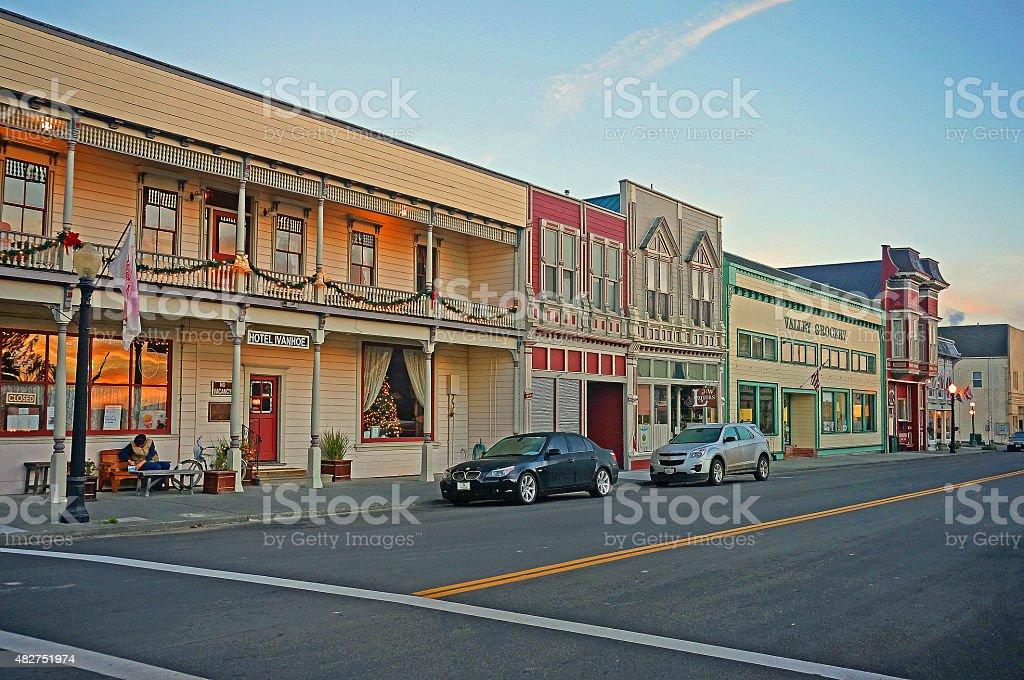 Victorian Village of Ferndale, California stock photo