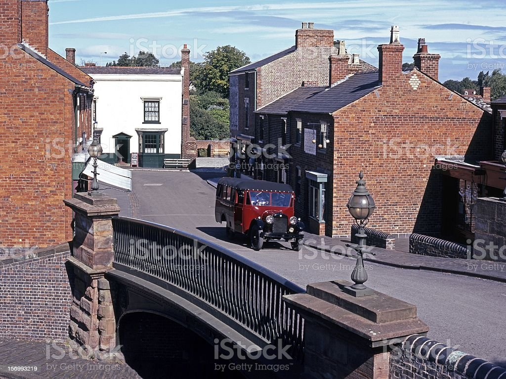 Victorian village street, Dudley, England. stock photo