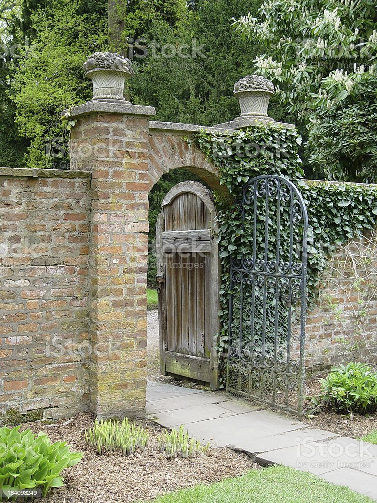Victorian Walled Garden royalty-free stock photo