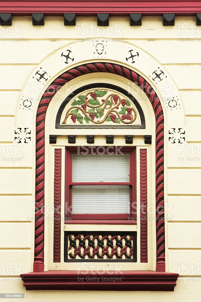 Victorian Window Construction Detail stock photo