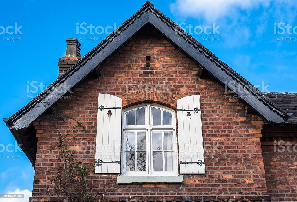 Victorian Window Shutters stock photo