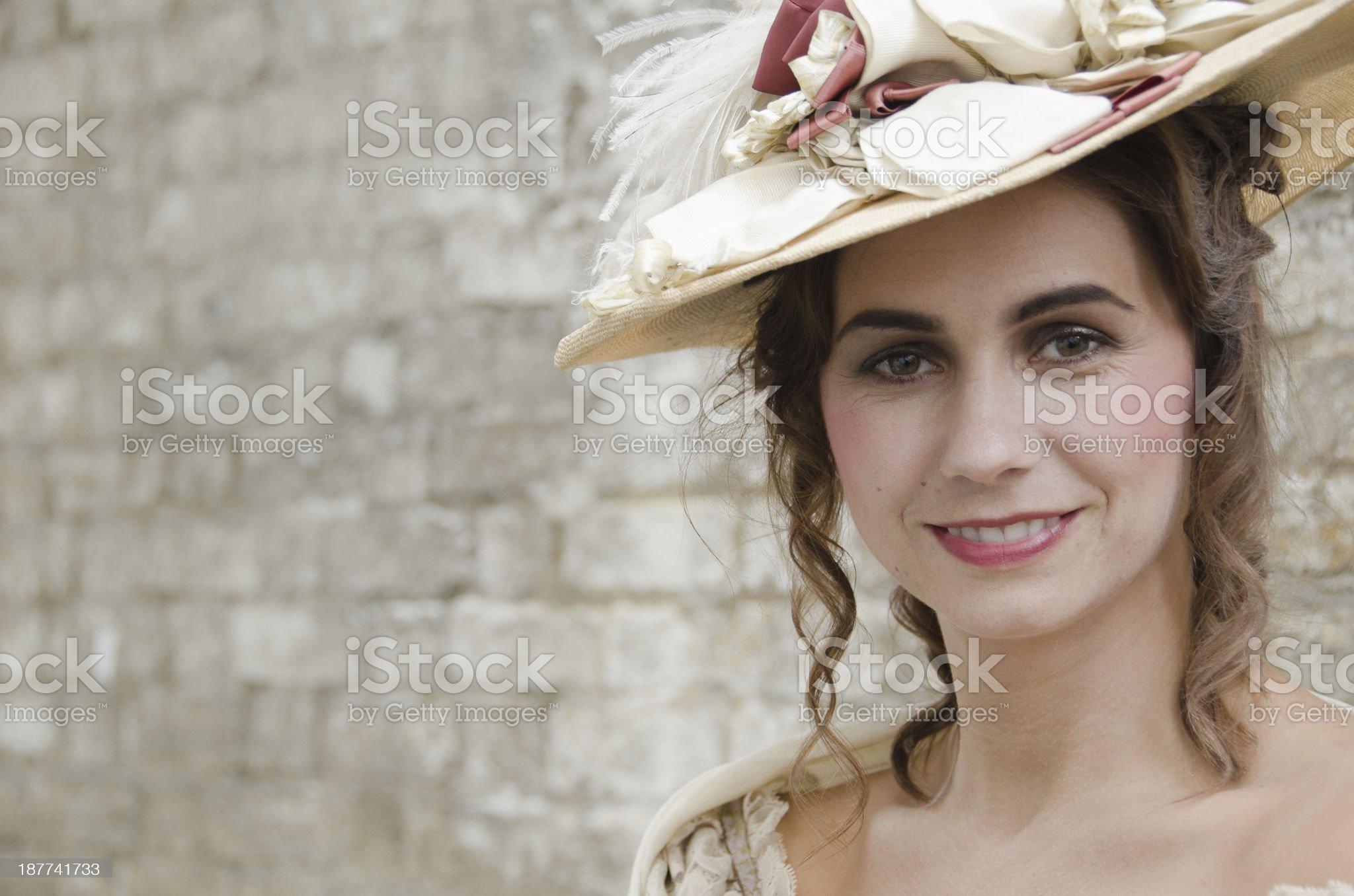 Victorian Woman Portrait royalty-free stock photo