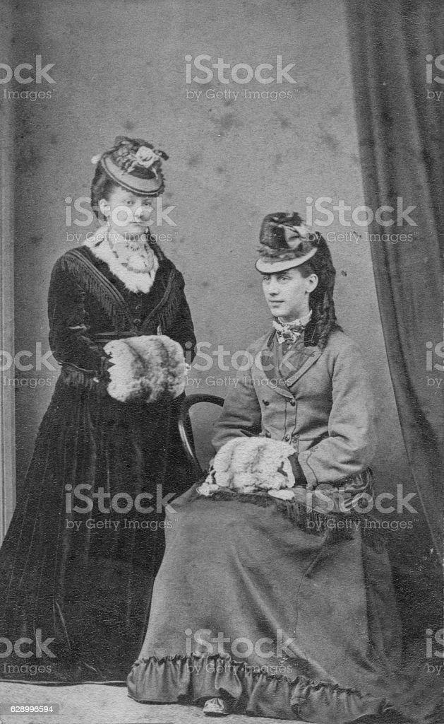 Victorian Women stock photo