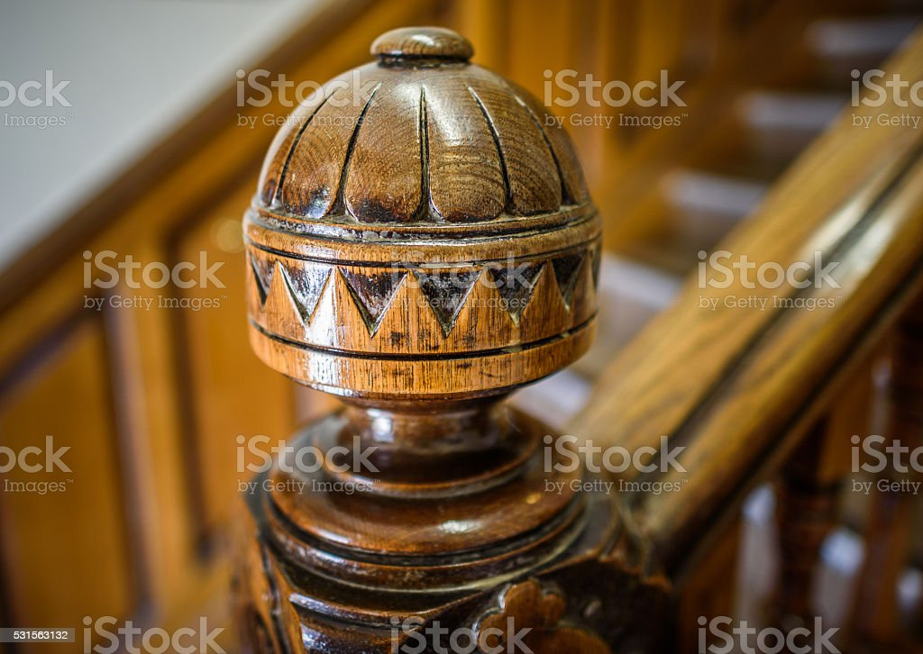 Victorian Wooden Staircase stock photo