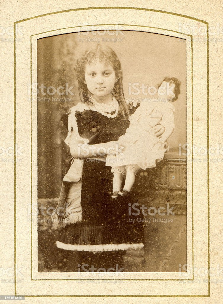 Victorian Young Girl Old Photograph royalty-free stock photo
