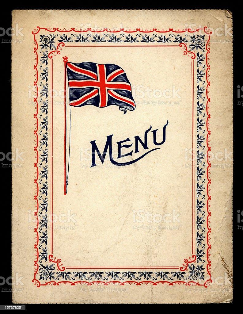 Victorian/Edwardian menu card stock photo