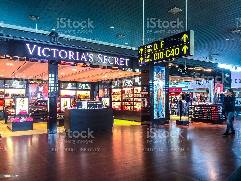 Victoria's Secret at Copenhagen airport, Denmark stock photo