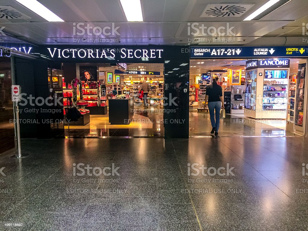 Victoria's Secret store at Linate airport, Milan stock photo