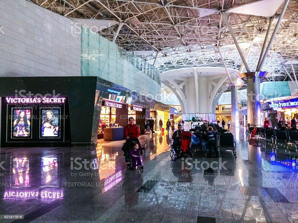 Victoria's Secret Store, Vnukovo Airport, Moscow stock photo