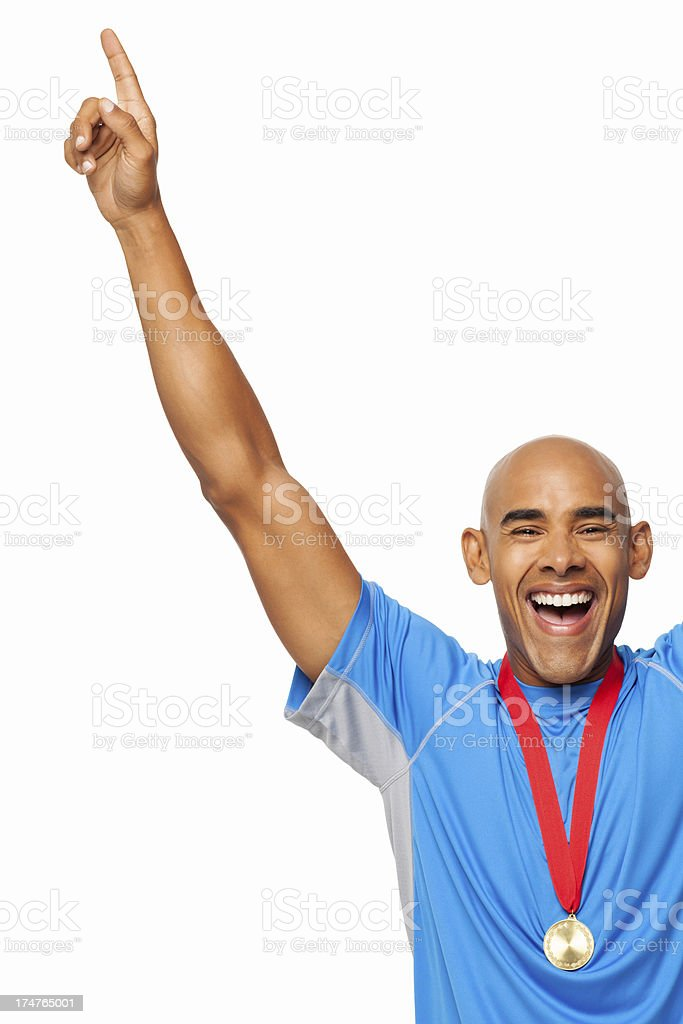 Victorious Athletic - Isolated royalty-free stock photo