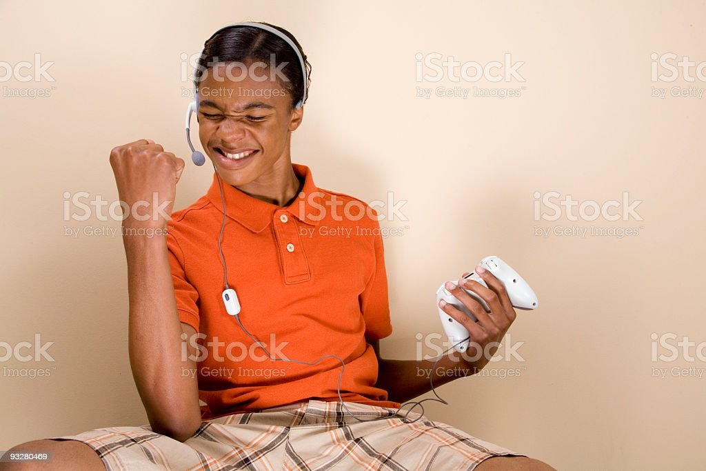Victorious Gamer royalty-free stock photo