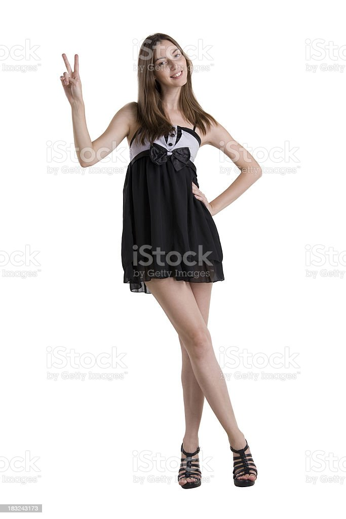 victorious young lady stock photo