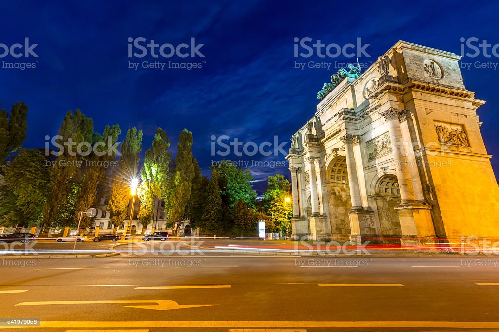 Victory Arch in Munich stock photo