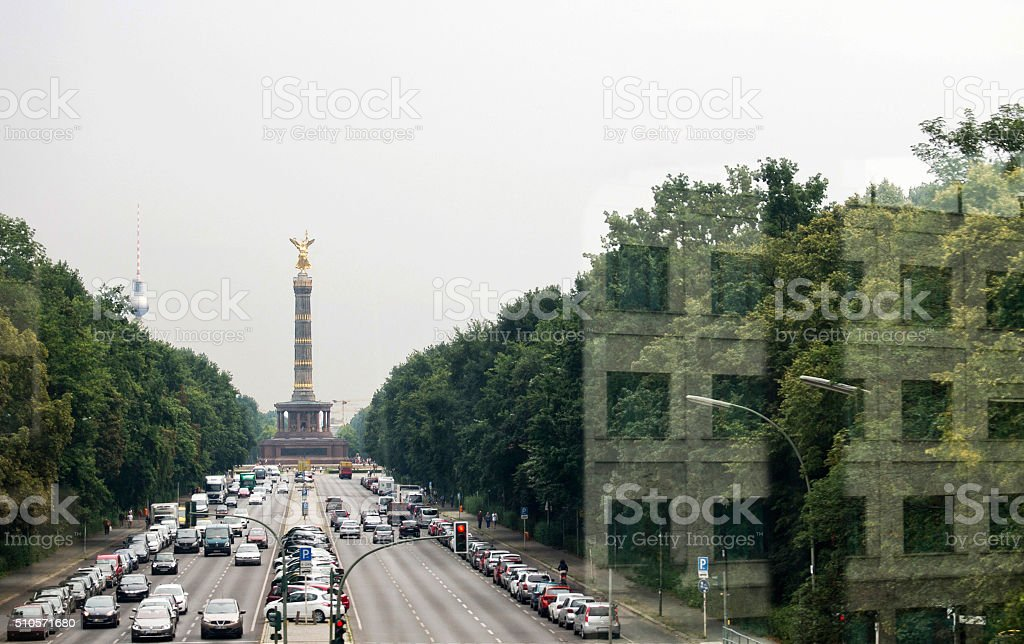 Victory Column, Berlin stock photo