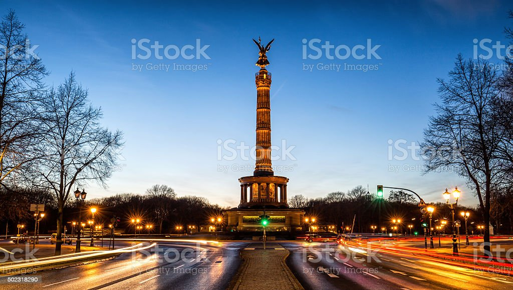 Victory Column in Berlin, Germany stock photo