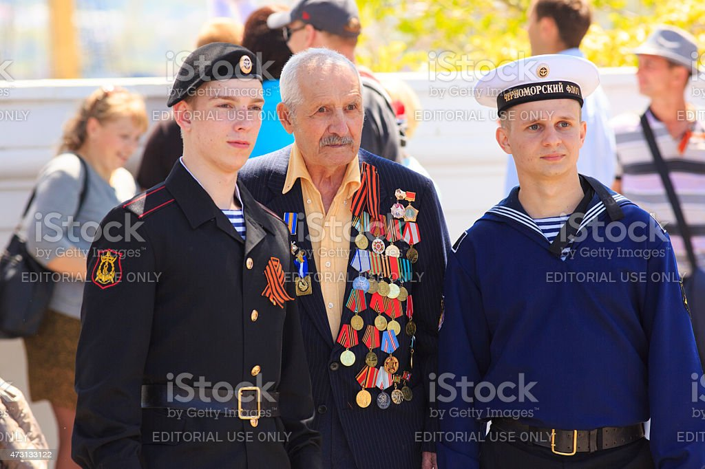 Victory Day in Sevastopol Crimea 9 of May 2015 year. stock photo