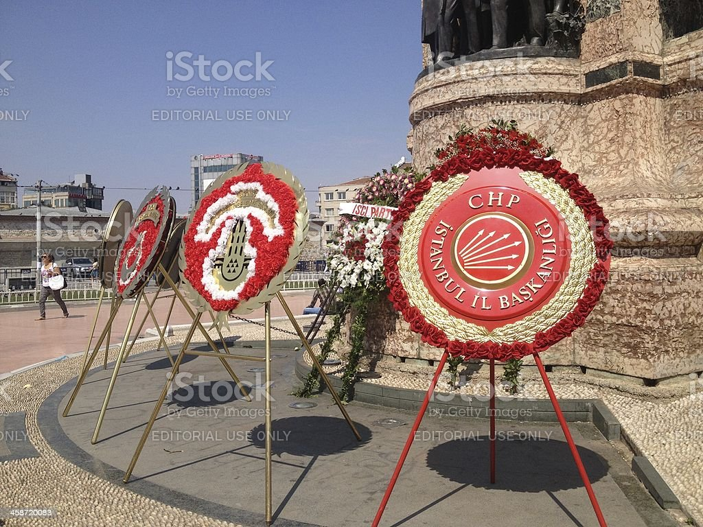 Victory Day of Turkey royalty-free stock photo