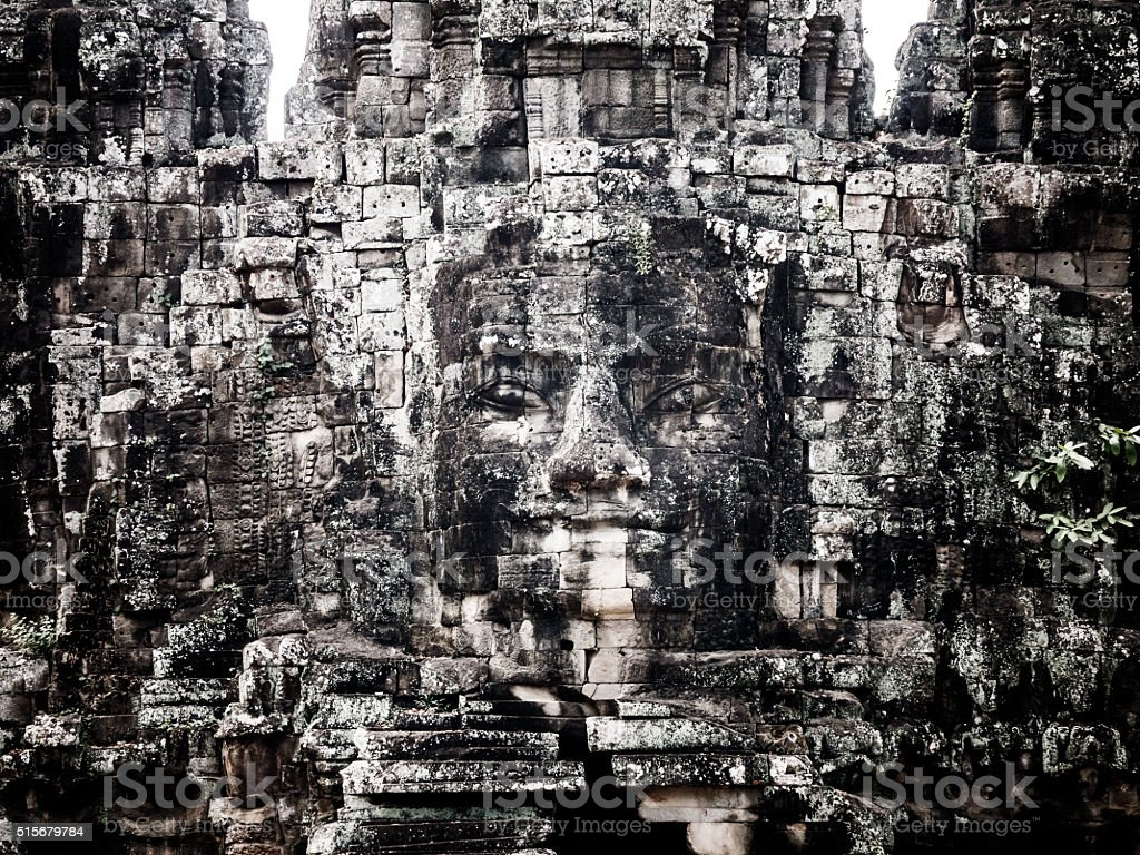 Victory entrance gate to Angkor Thom Cambodia stock photo