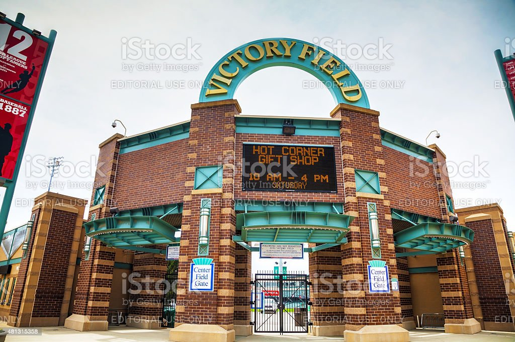 Victory Field Stadium in Indianapolis stock photo
