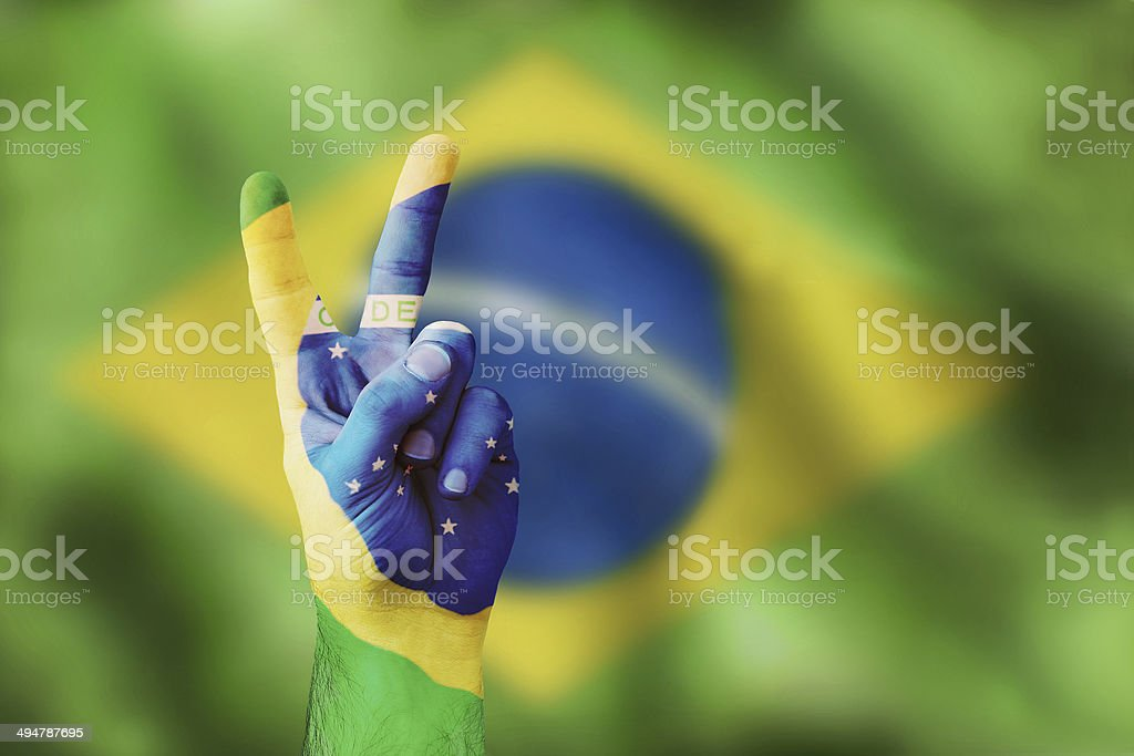 victory for Brasilia stock photo