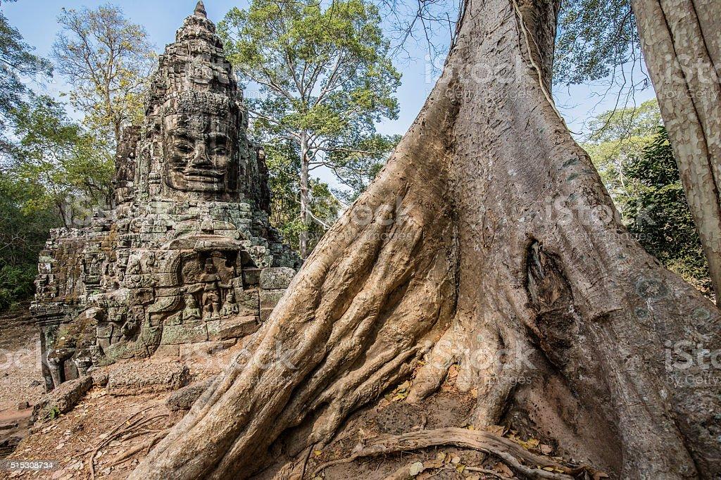 Victory Gate Angkor Thom Cambodia stock photo