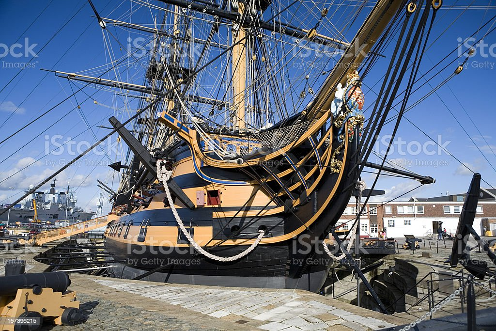 HMS Victory in Portsmouth, England stock photo