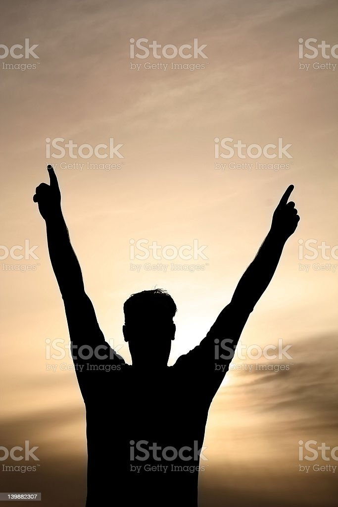 Victory is Mine royalty-free stock photo