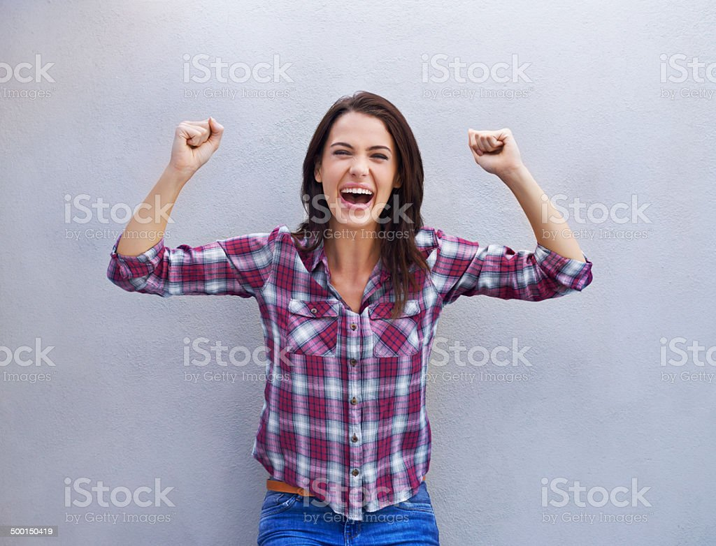 Victory is mine! stock photo