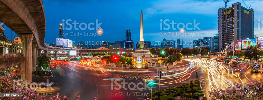 Victory Monument, Bangkok, Thailand stock photo