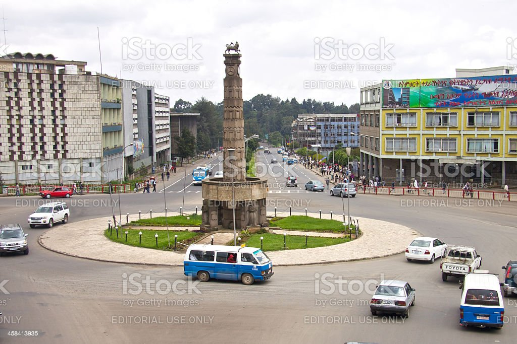 Victory monument in Addis Ababa royalty-free stock photo