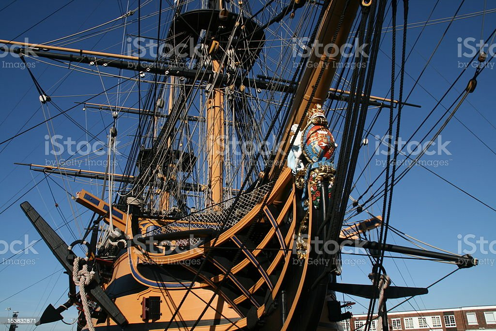 HMS Victory Portsmouth stock photo