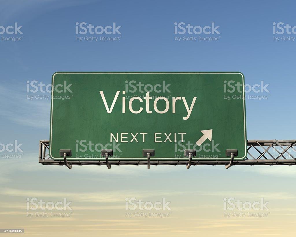 ビクトリーの道路標識 ロイヤリティフリーストックフォト