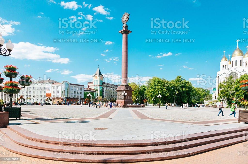 Victory Square, Kaliningrad stock photo