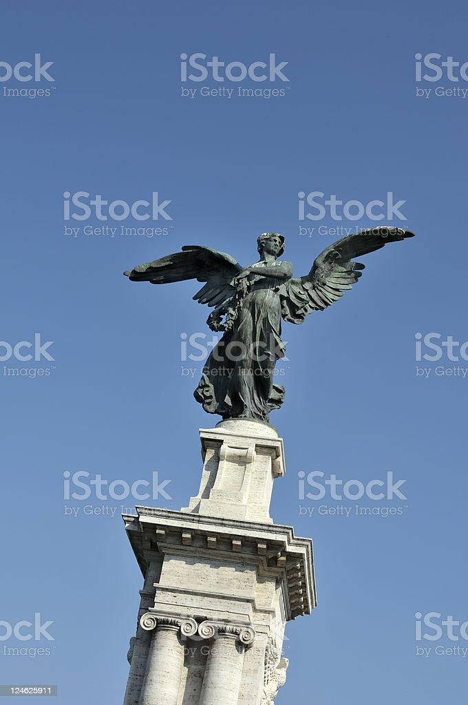 victory statue stock photo