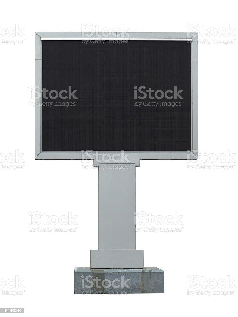 Video billboard royalty-free stock photo