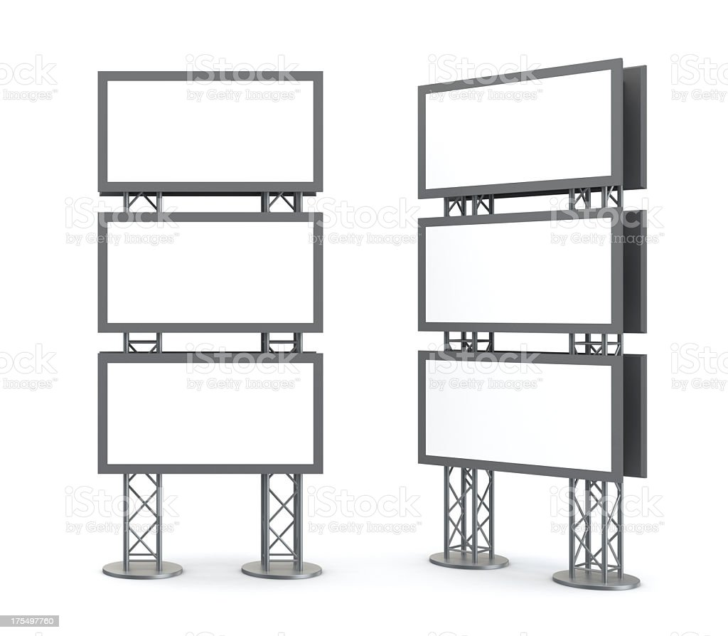 Video board display installation drawings royalty-free stock photo