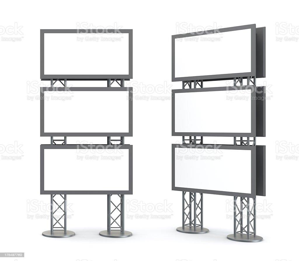Video board display installation drawings stock photo